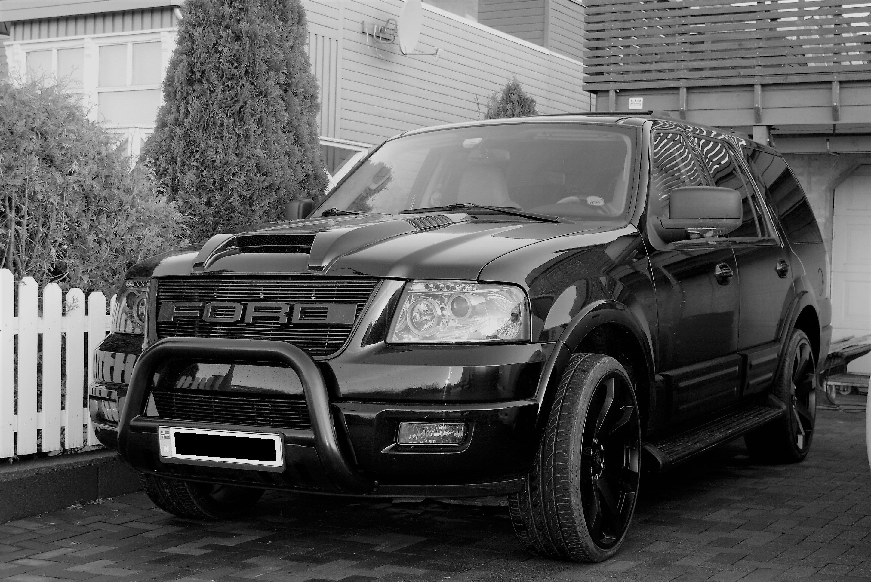 Ford expedition 2003 24 inch wheels 1st ever custom raptor grill for ford expedition