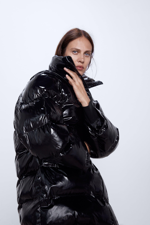 Image 2 Of High Collar Puffer Coat From Zara Oversized Puffer Coat Oversized Puffer Puffer Coat [ 2880 x 1920 Pixel ]