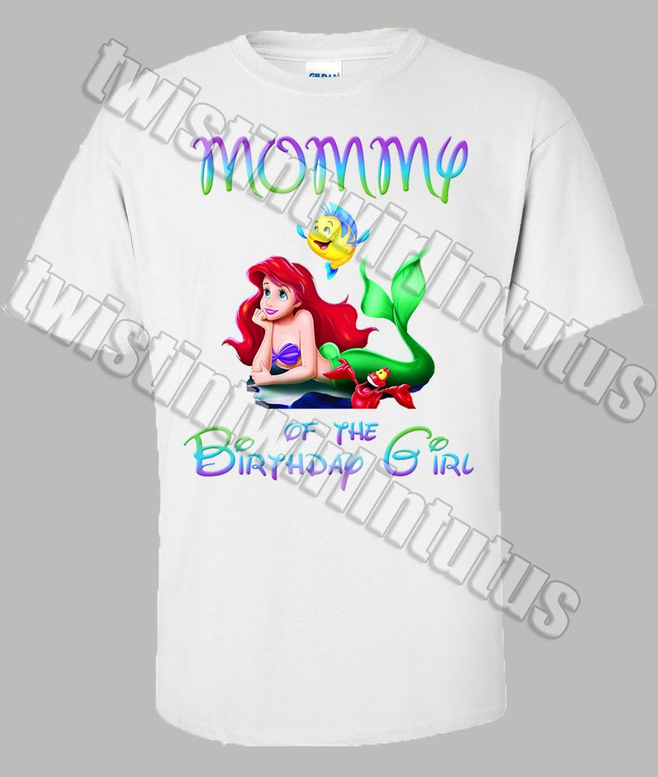 Ariel Mom Birthday Shirt