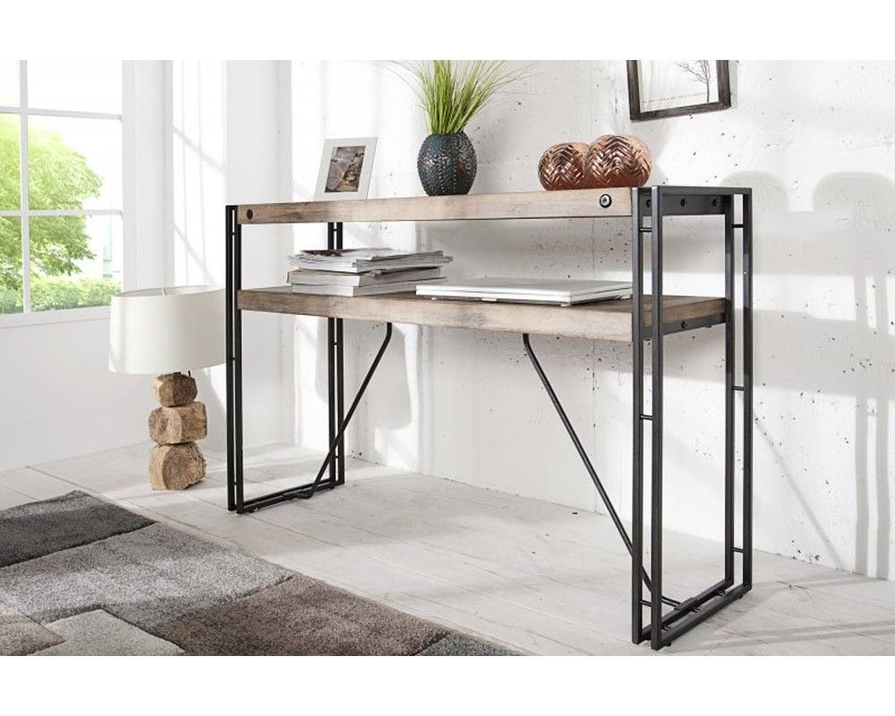 console industrielle 120 cm factory d co apr s les travaux pinterest console industriel. Black Bedroom Furniture Sets. Home Design Ideas
