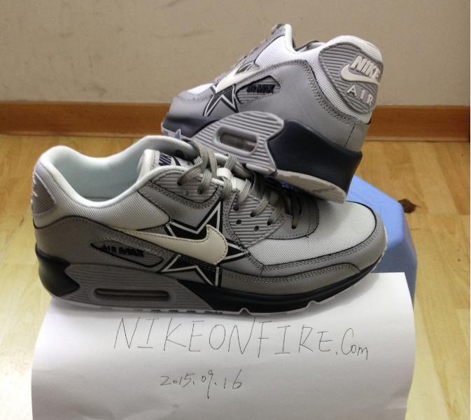 dallas cowboys nike air max 90 new release custom sneakers