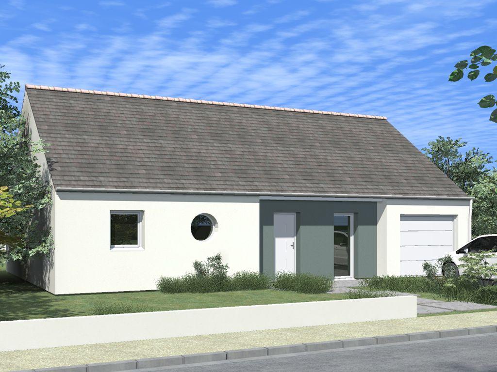 Maison de plain pied avec 3 chambres et un garage propos e for Construction maison plain pied