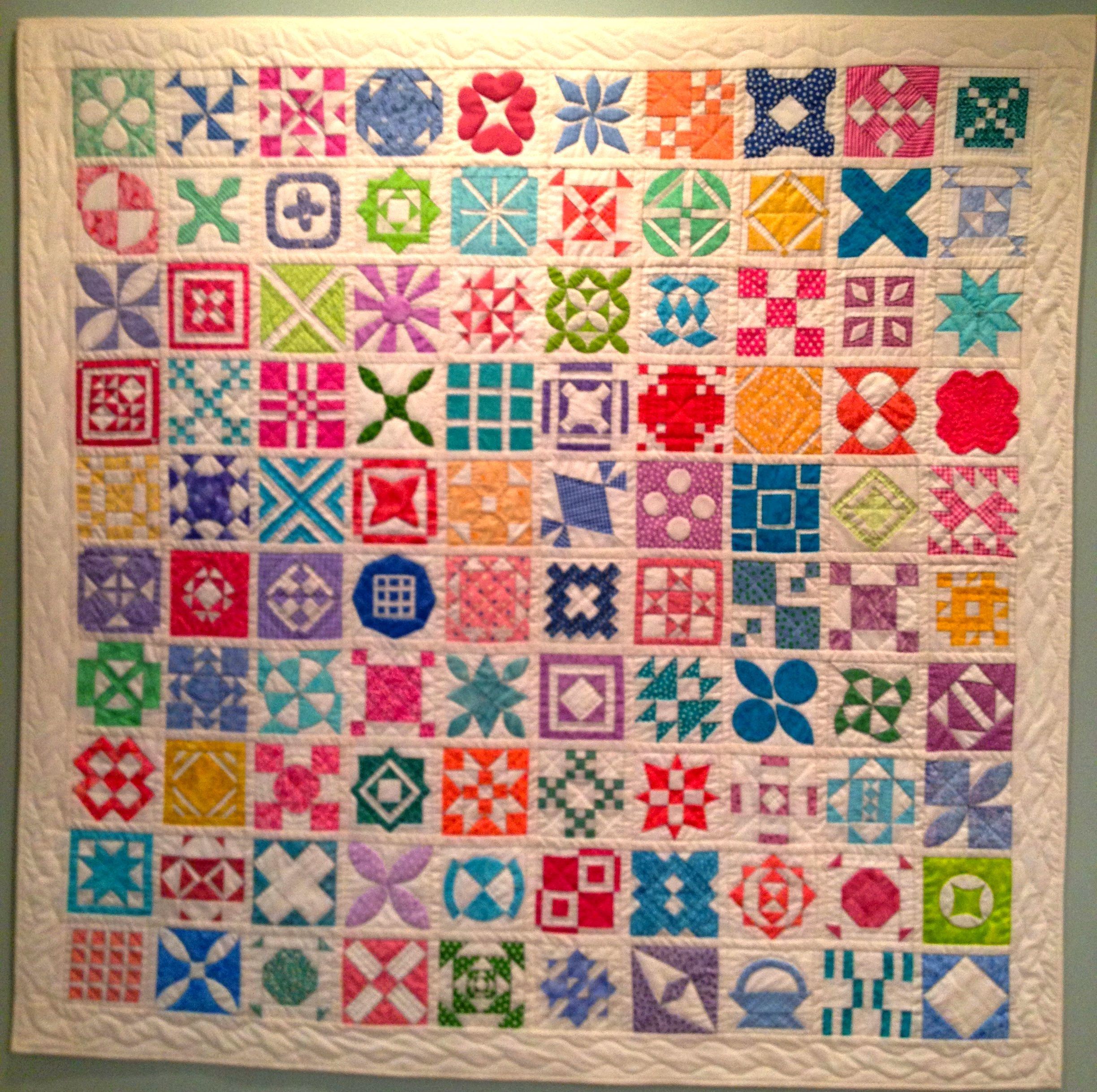 Dear jane quilt in bright colors by anne brill of washington dc 2013 vermont