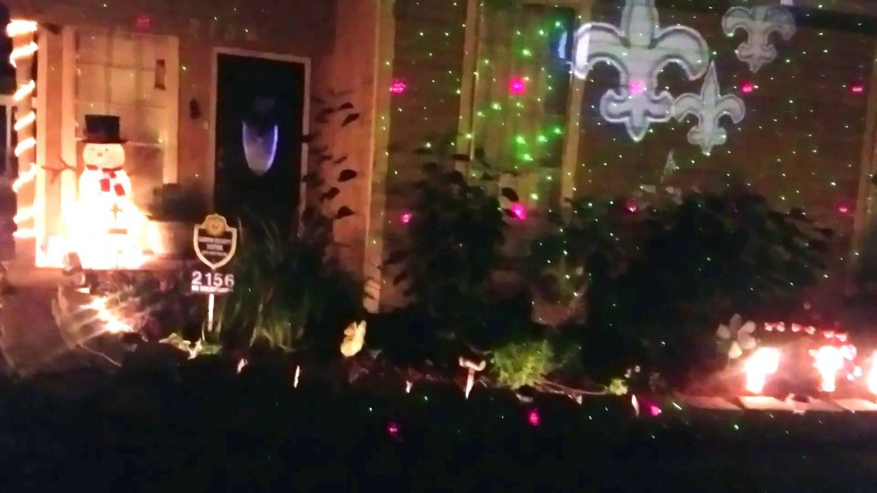 Copy of ultimate new orleans saints christmas lights