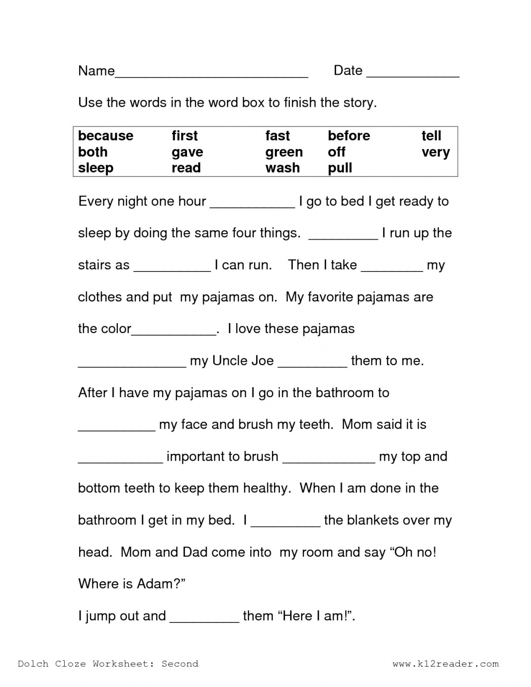 Reading Comprehension Worksheets 3rd Grade Reading