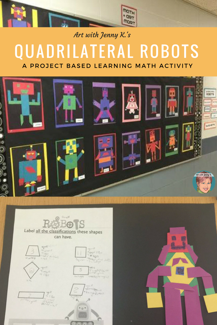 Quadrilateral Robots Project Based Learning Math Activity Worksheets Game This Quadrilateral Ro Project Based Learning Math Math Activities Learning Math [ 1102 x 735 Pixel ]
