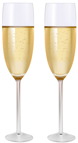 Two Glasses Of Champagne Png Clipart Champagne Clip Art Champagne Flute