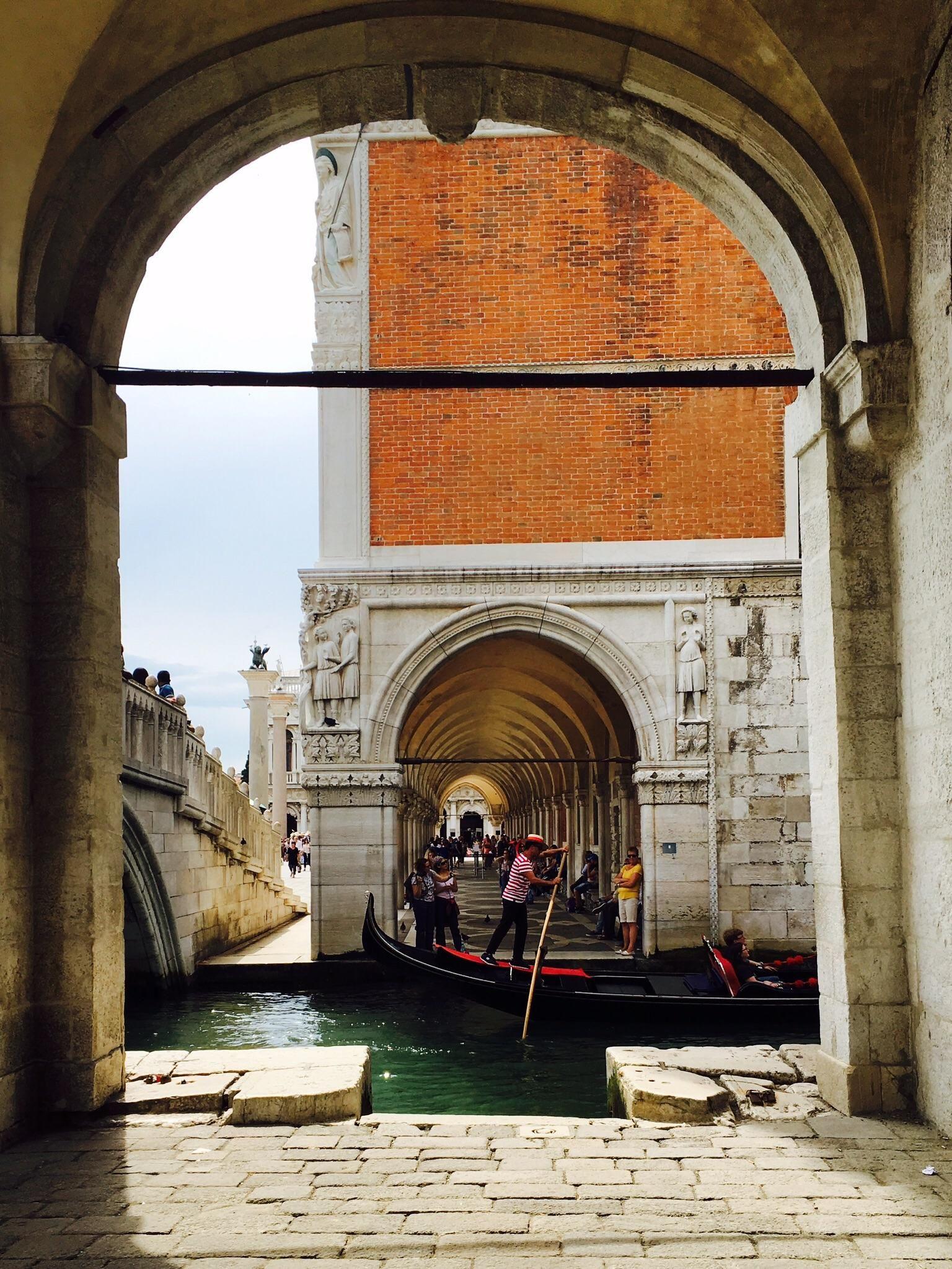 Gondalier in Venice Italy