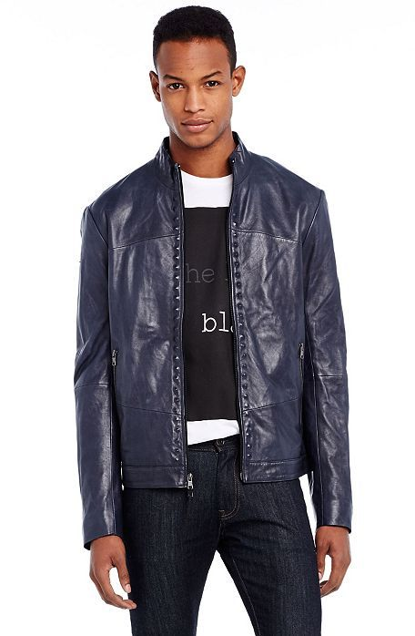76b3b802 Studded Leather Jacket - Outerwear & Jackets - Mens - Armani ...