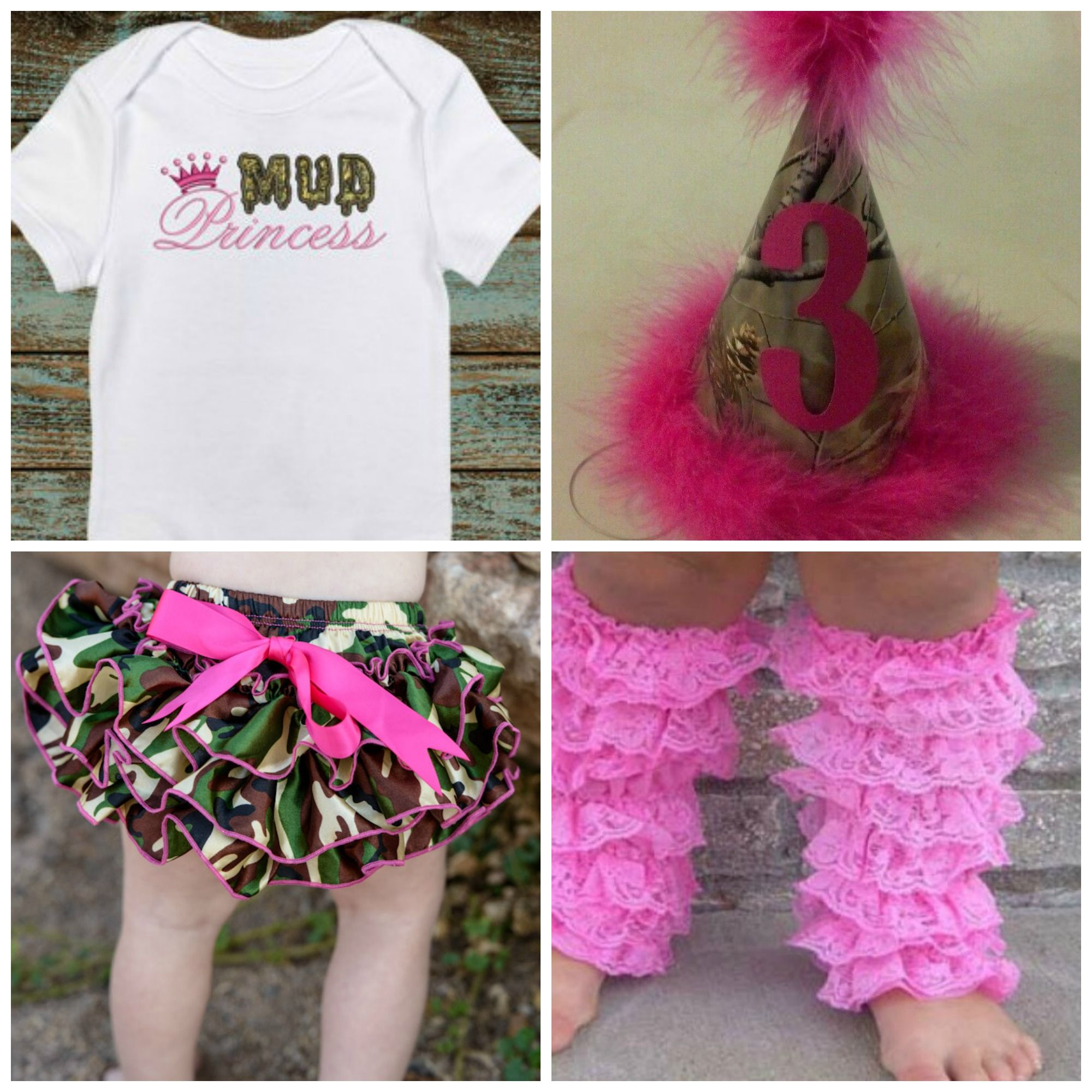 https://www.facebook.com/rufflesandbowtiesbowtique/photos/pcb.350492665137711/350492115137766/?type=1&theater Does your little one have a Birthday coming up...How about a Camo party or a Camo Smash Cake Session??? send us a PM if you would like to order any of the items or have a Special Birthday hat Made...