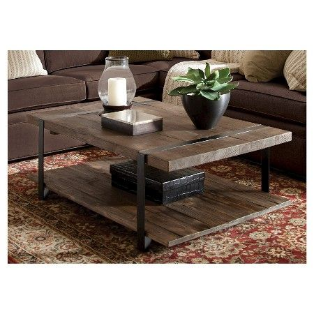 Modesto Large Coffee Table Rustic Natural Alaterre Furniture