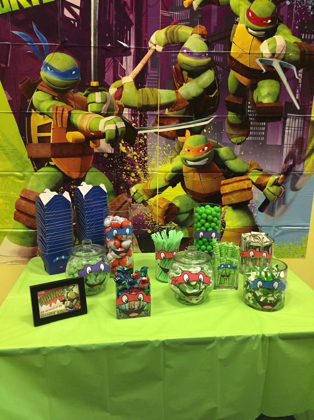 Tmnt Candy Bar Ninja Turtles Birthday Party Tmnt Birthday Party Ideas Teenage Mutant Ninja Turtles Birthday Party
