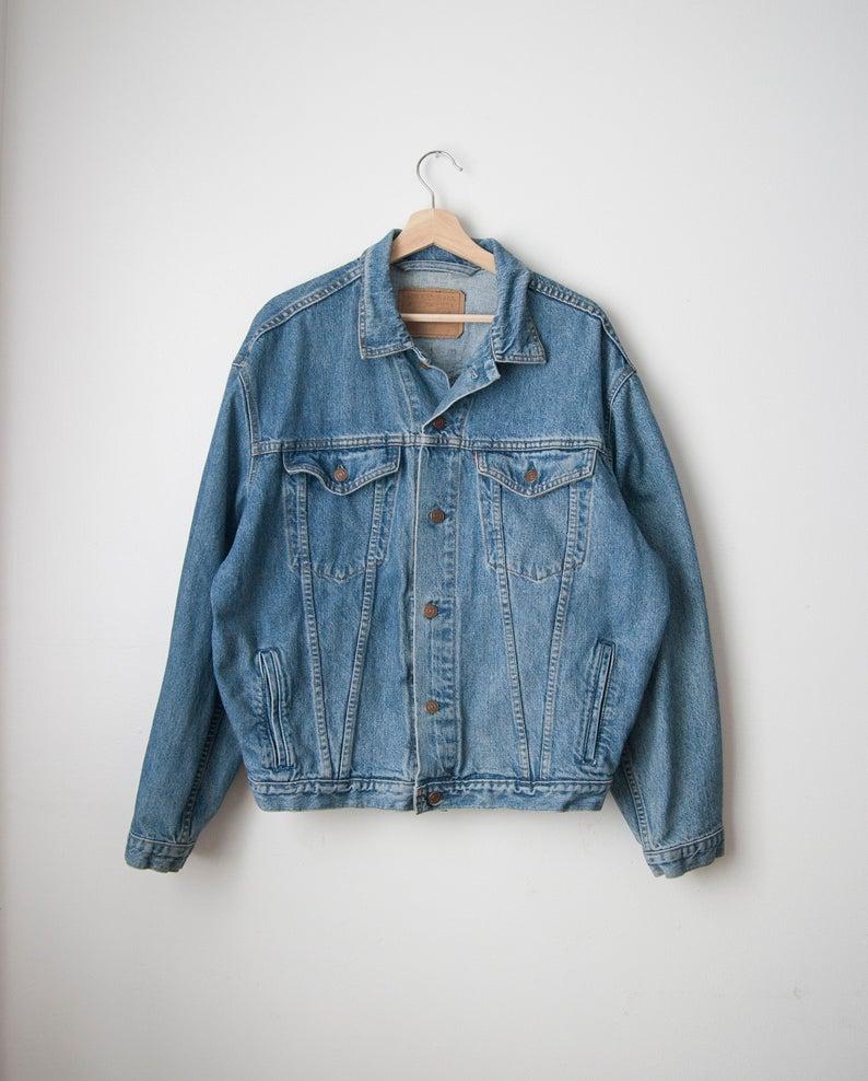 Vintage Levis Jacket 90s Levi Strauss Denim Jacket Size Medium Large In 2020 Vintage Denim Jeans Vintage Levis Jacket Denim Jacket