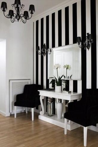 Deco Rayures En Noir Et Blanc Martine Haddouche Office Dream