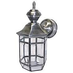 Motion Sensor 13 1 2 High Antique Silver Outdoor Light