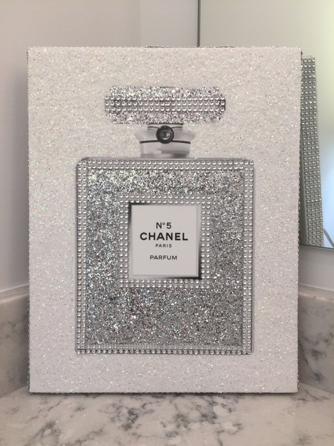 Last One Left Canvas Wrapped Embellished Art Print Chanel No 5