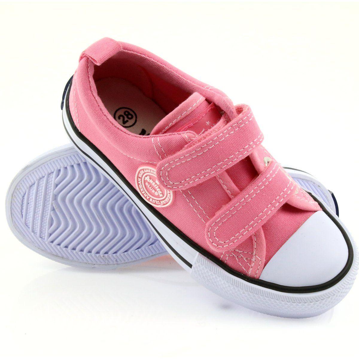 American Trampki Rozowe American Club Lh50 Biale Pink Sneakers Kid Shoes Childrens Sneakers