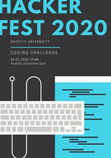 Blue And Black School Event Program   Design Inspo