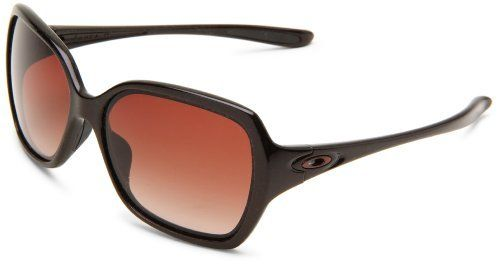 8c87d71671 ... real oakley womens overtime oo9210 03 round sunglasseschocolate sin  frame dark brown gradient c26af 94322 ...