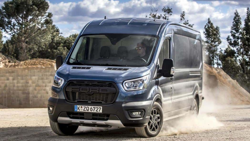 The Ford Transit Trail Van Has Awd A Raptor Grille And Drive Modes To Conquer The Elements In 2020 Ford Transit Ford Awd