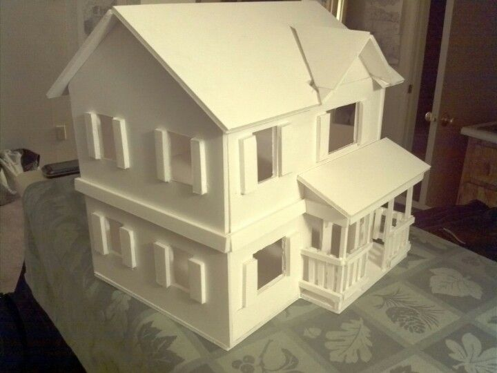 My First Foam Core House With Images