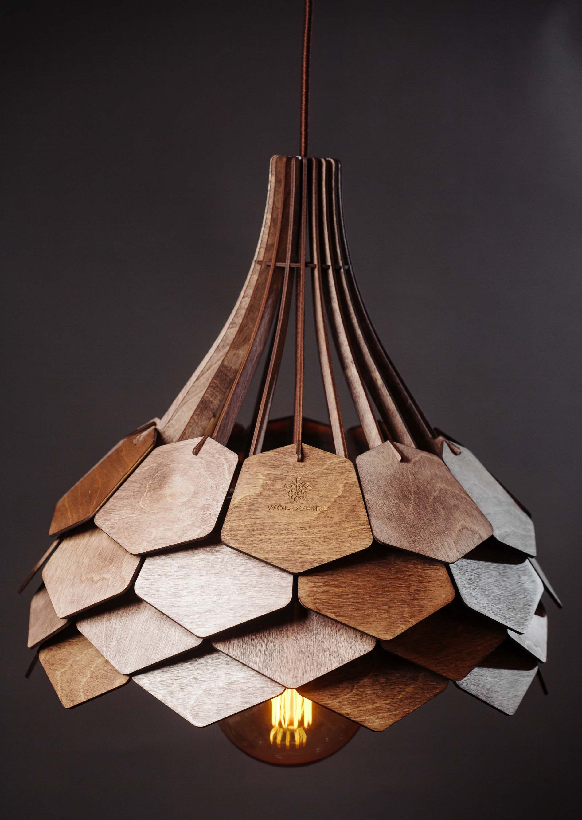 Lustre Lampe Lustre Nuances Scandinave Lampe En Bois Clair Image 1 Wooden Lampshade Wood Lamp Shade Wood Pendant Light