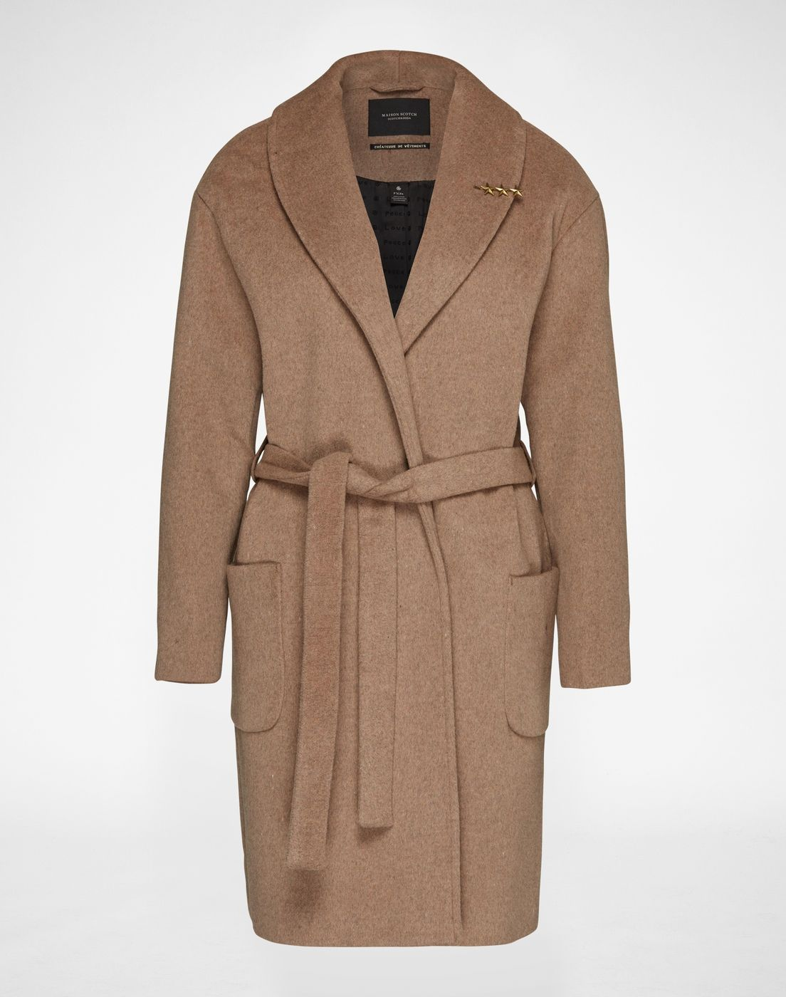 """Coat: Maison Scotch """"Wrapover"""". Click on the picture to get the product ♥"""