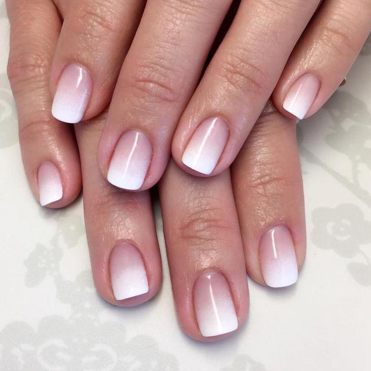 Ombré French manicure   Nails Arts   Pinterest   Nail bar, Manicure ...
