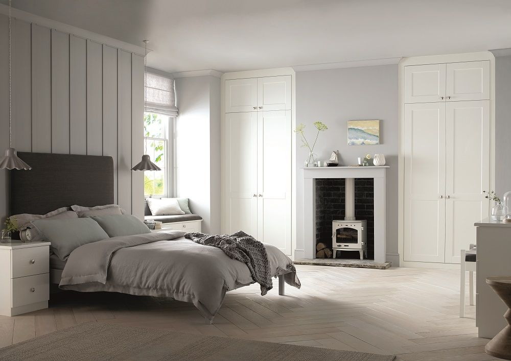 White Shaker Wardrobes In A Georgian Style House