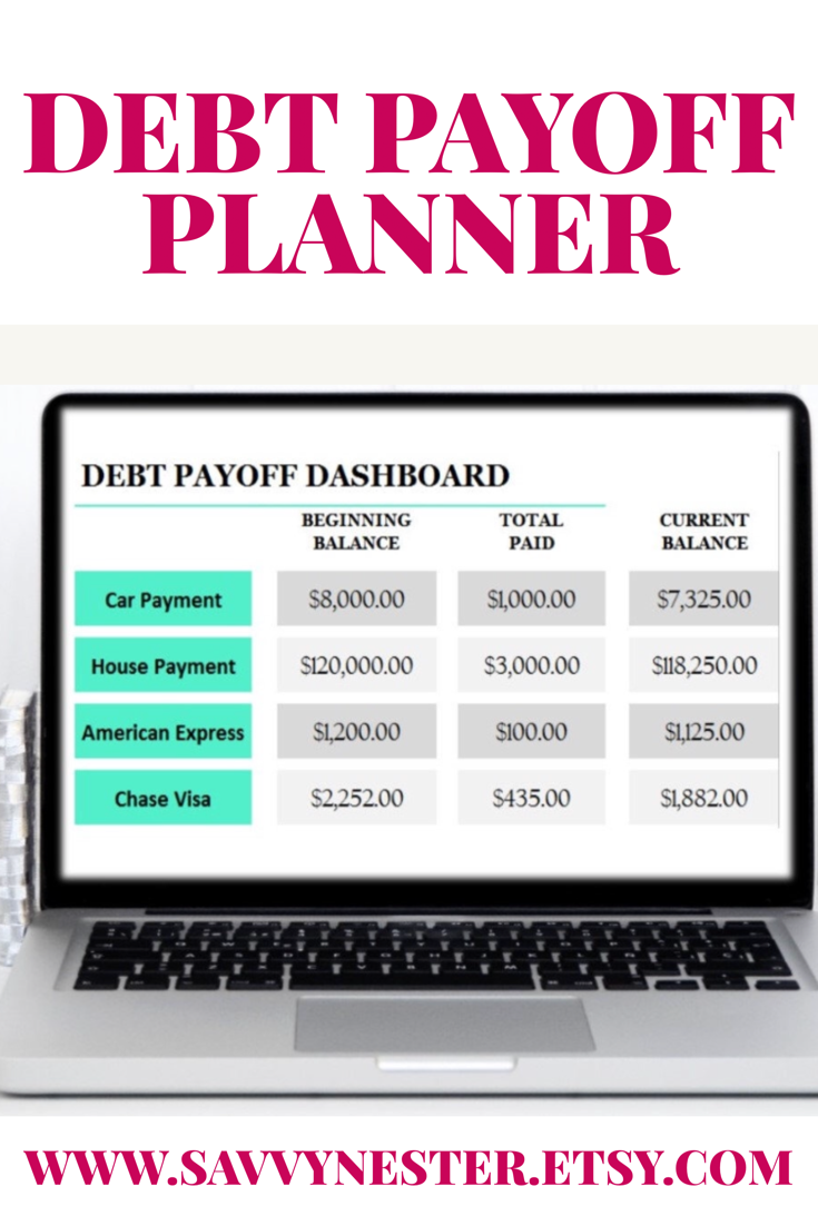 debt printable finance plan debt planner finance goals debt payment planner