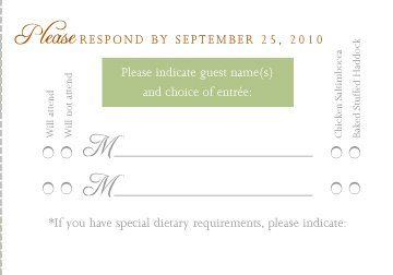 Rsvp Card With Menu Options Weddings Etiquette And Advice Wedding Forums Weddingwire