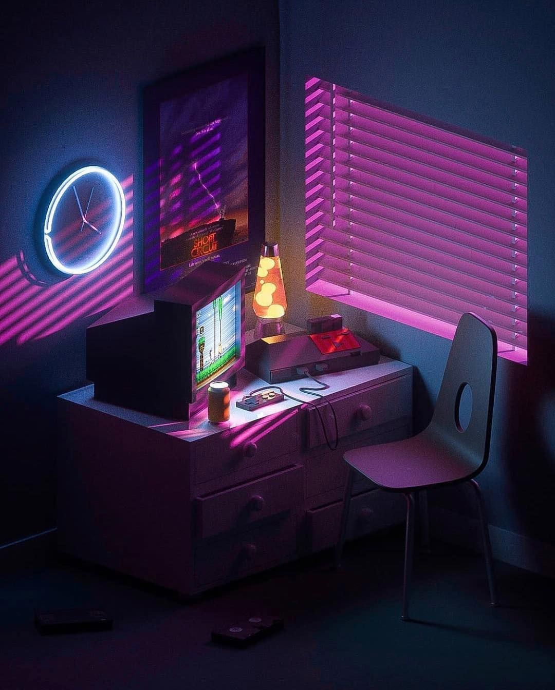 Download Aesthetic Gamer Room Ideas PNG