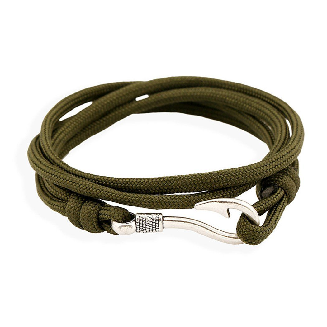 Mens Fish Hook Bracelet Gone Coastal Caribbean Meaning Fisherman Paracord Leather