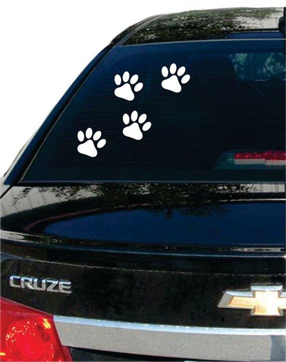 Cute Dog Paw Art Car Truck Window Bumper Wall Laptop Sticker Decals MA