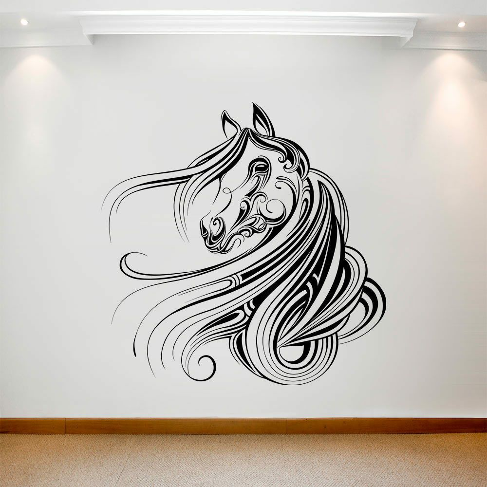 Shop For Vinyl Wall Decals Silhouette Of Horse S Head At A Great Price Large Wall Decals Wall Decal Sticker Wall Decals