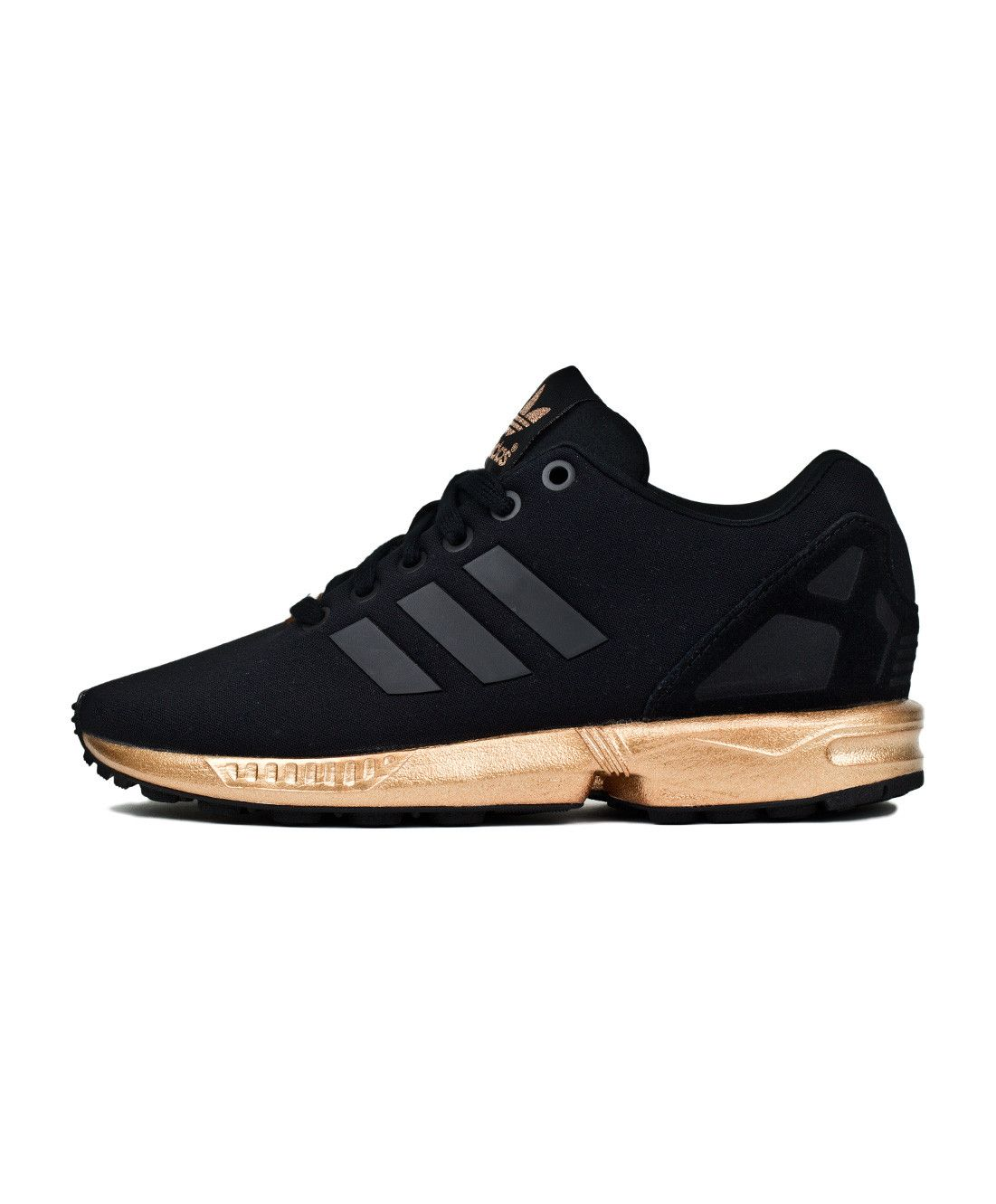 reputable site 66cde d2a06 S78977, core black, black, adidas, women, womens, women s, ZX flux, zx flux,  flux, gold, copper