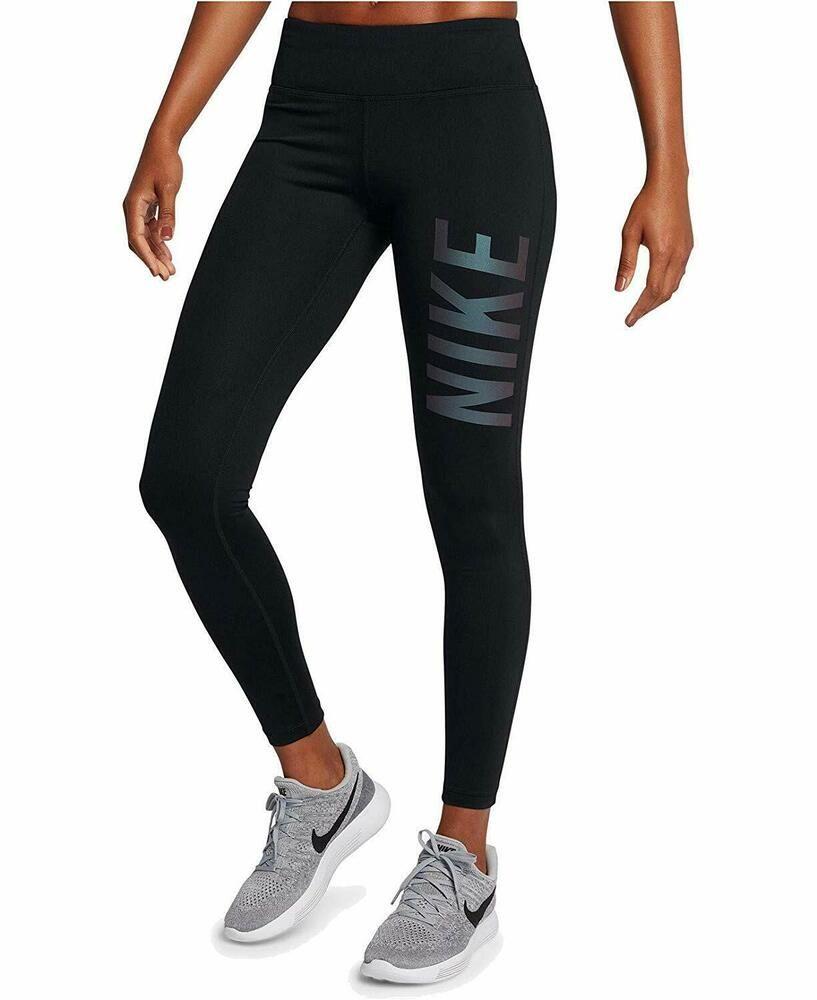 Nike Dri Fit Women's Power Essential Running Leggings Black