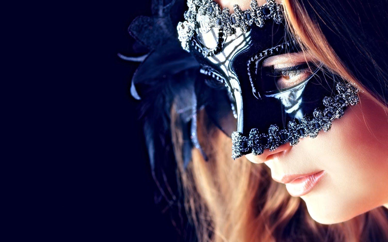 Girl With Beautiful Black Mask Hd Wallpaper W2bpinitbutton Url Http Hdwallpapersgalaxy Blogspot Com 2014 Mask Girl Mysterious Girl Mask