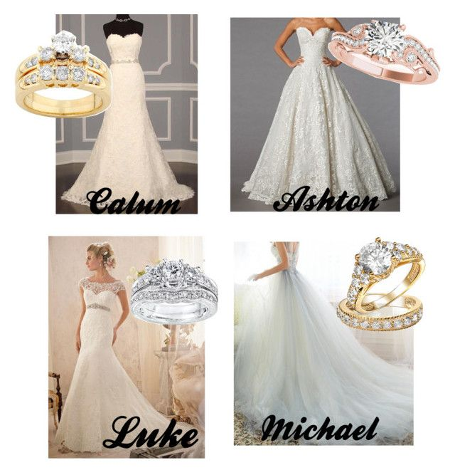 """Your wedding dress and ring"" by jocelintomlinson ❤ liked on Polyvore featuring Mode, Kobelli, Allurez und Bling Jewelry"