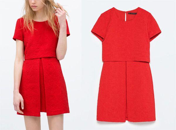 Invitada de boda / Vestido rojo de Zara