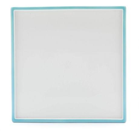 "Platter, Shape ""MEISSEN® COSMOPOLITAN"", Miami Style,Turquoise sea, 25 x 25 cm"