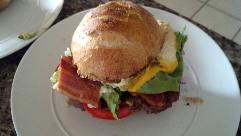 Bbq burger - add BLTA, cheese, bbq sauce and jalapeno aioli...