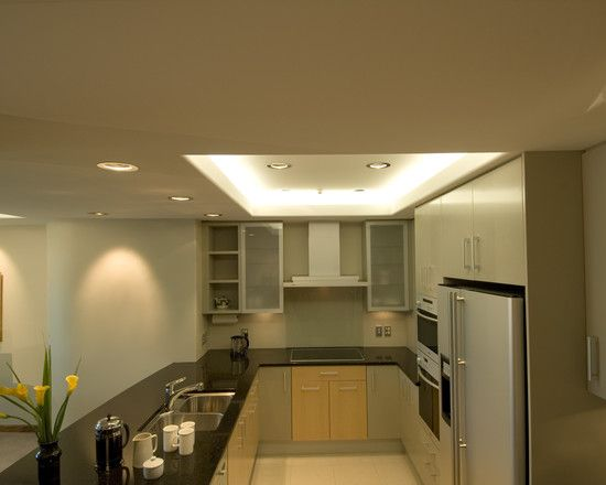 Some Interesting Pictures About Recessed Ceiling Design Modern Kitchen With Curved Rece Kitchen Lighting Design Kitchen Led Lighting Kitchen Recessed Lighting