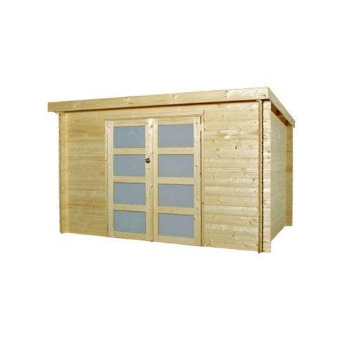 Abri jardin bois toit plat 28 mm cabane en bois outdoor structures et outdoor - Baraque de jardin ...