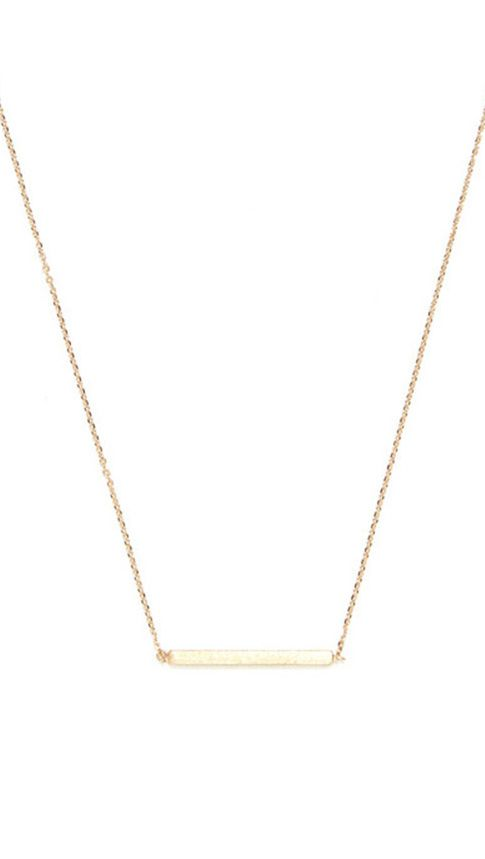 Brushed bar pendant pendants gold and jewel in love with the clean lines of this dainty gold plated brass pendant that we are barely able to keep in stock aloadofball Image collections