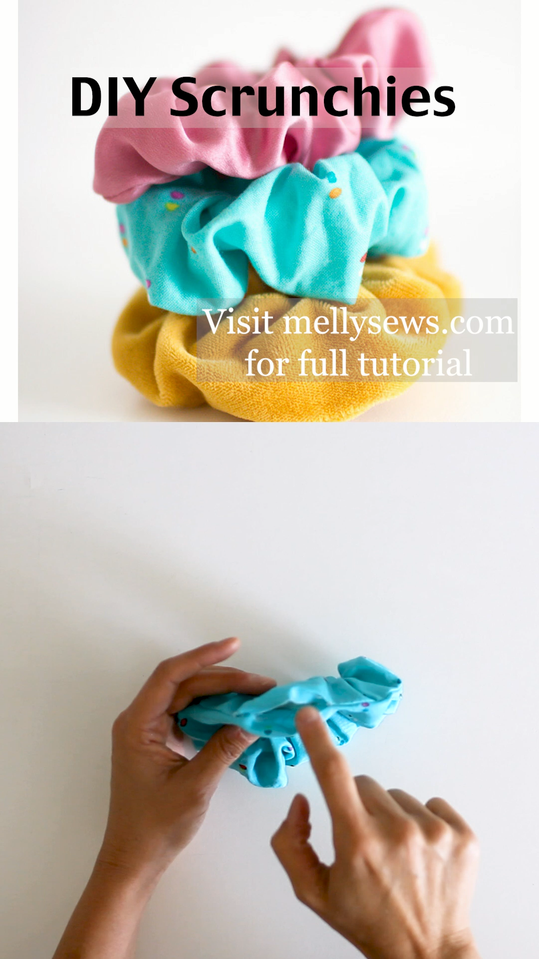 How to Make a Scrunchie - Beginner sewing projects easy, Scrunchies diy, How to make scrunchies, Sewing projects for beginners, Hair ties diy, Diy hair scrunchies - How to make scrunchies  DIY hair ties tutorial  Melly Sews