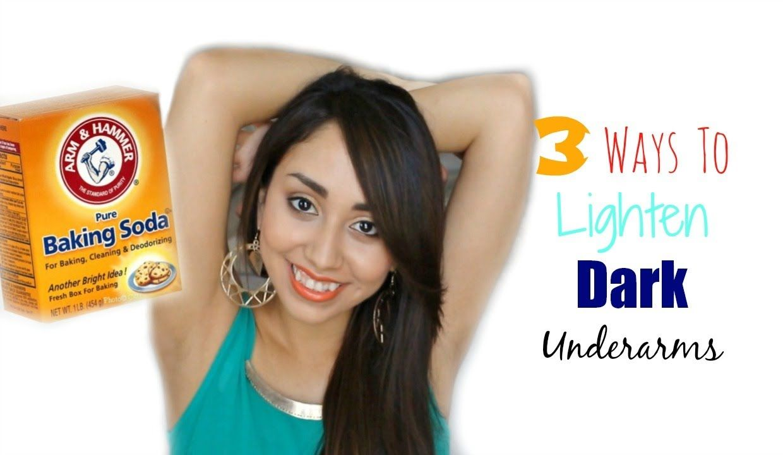 Lighten dark underarms with baking soda makeup and hair