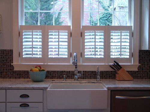 Caf Style Shutters Cover Half Of The Window Offering Privacy While Still Letting The Light In