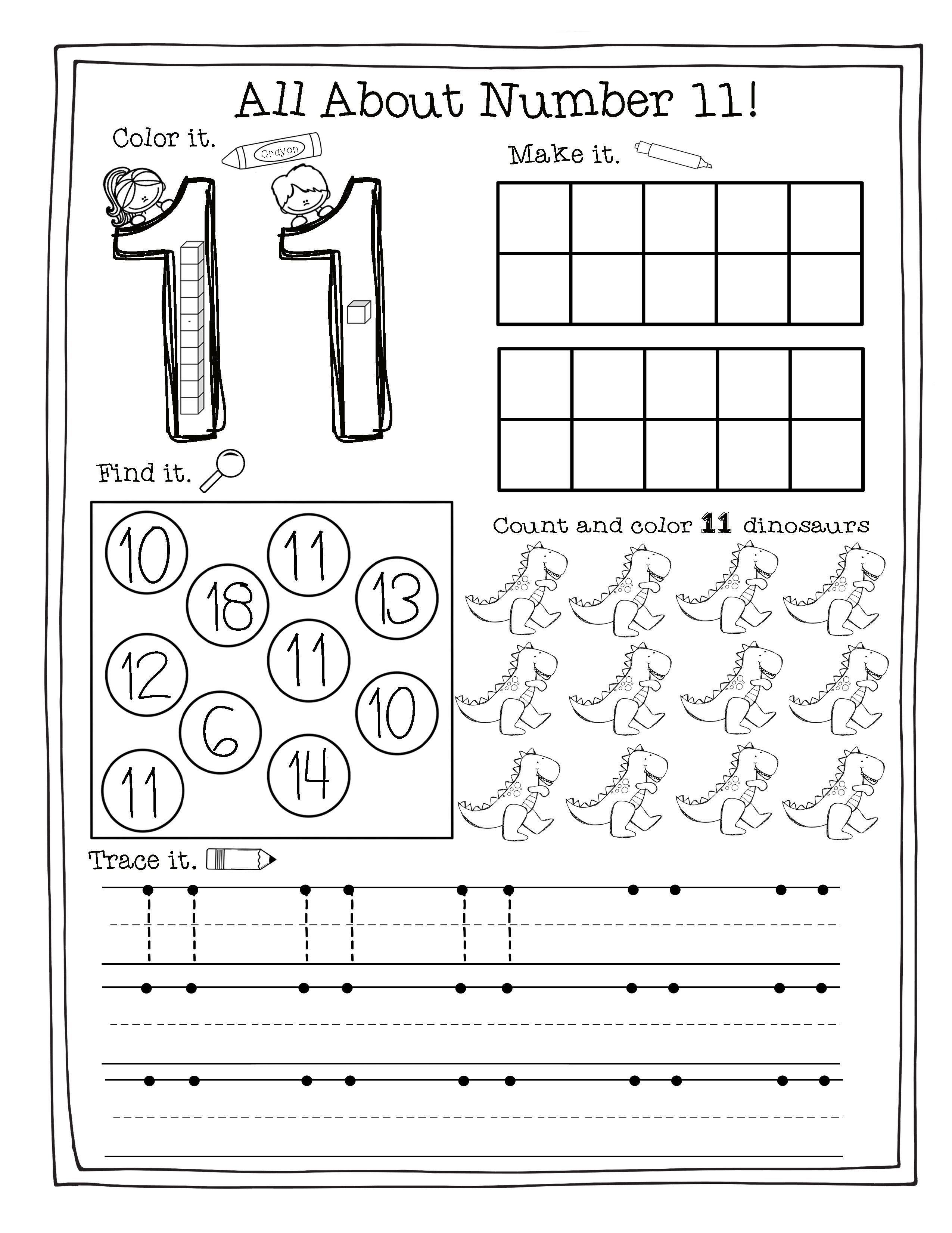 Building The Numbers 11 20 Free Printables Numbers Preschool Numbers Kindergarten Preschool Worksheets