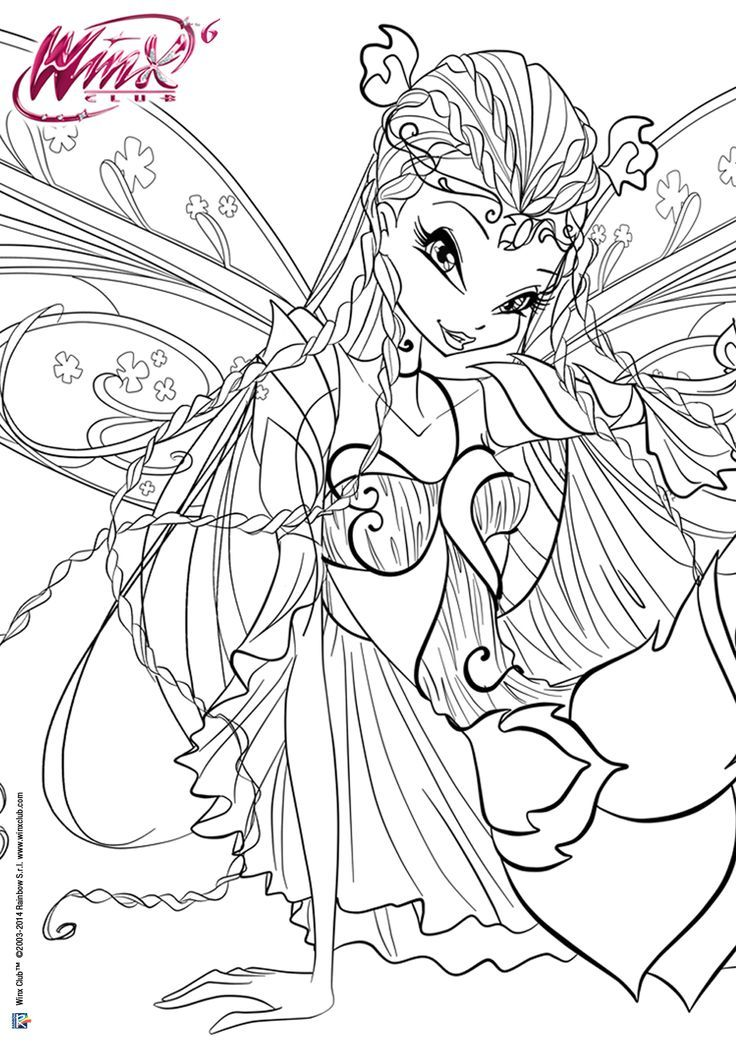 Coloriage Winx Fairy Coloring Pages Cartoon Coloring